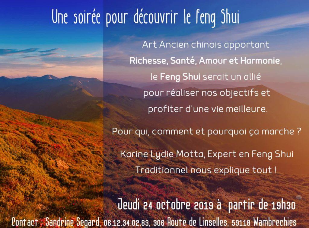 invitation à une conférence sur le Feng Shui organisé par NewLife
